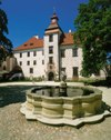 Třeboň castle - Large courtyard of the Třeboň Chateau with fountain from Ignac Bayer (Czech Baroque architect), photo by: Archiv Vydavatelství MCU s.r.o.