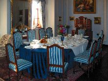 Třeboň castle - Dining room (tour B) – exotic fruit (e.g. olives, figs) was part of the Třeboň rulers' diet; etiquette was observed at the dining table, photo by: Archiv Vydavatelství MCU s.r.o.